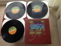 Yes Yessongs Triple Vinyl LP Records