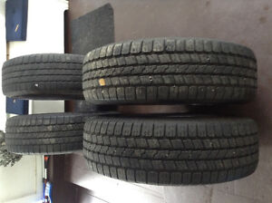 265/70/R17 Goodyear Wranglers M & S tires