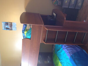 Bunk beds with desk and drawers
