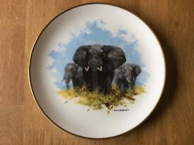 "The David Shepherd Wildlife Collection Plate, ""Elephant"""