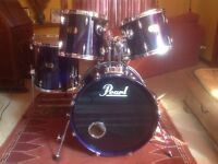 Pearl Export Kit 5 piece with Pearl EX Snare, heavy duty fittings and large toms great sound