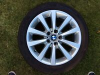 BMW 5 series 18 inch alloy wheel with runflat tyre