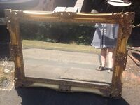 Gold Ornate French Louis Style wall mirror Shabby chic
