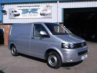 2012 12 VOLKSWAGEN TRANSPORTER 2.0 TDI SWB IN SILVER WITH TAIL GATE 84,000 MILES