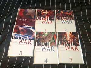 Selling Issues 1,2,3,4,7 From The Civil War 7 Issue Set!! $50!!
