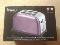 Swan purple toaster