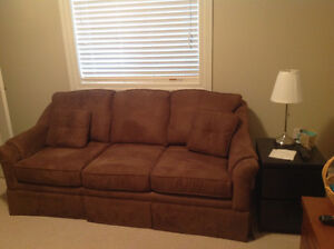Couch and wing chairs