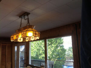 Large Stained Glass Light