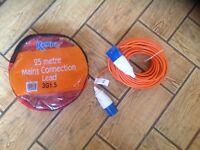 25m electric cable for caravan