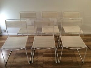 4x Vintage Spaghetti Chairs by Belotti-Chaises Retro Italienne