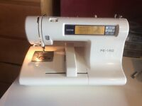 PE 150 Brother Embroidery Machine with PE Design 4.0 Software and Extras