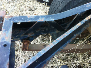 Jeep CJ frame solid and added support wit axels