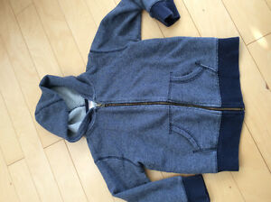 Gymboree boys blue zip up hoodie size 5/6