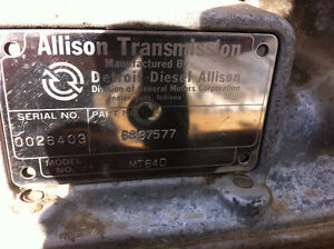 Allison Transmission model MT640 price is $750