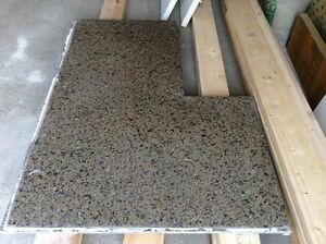Granite counter top dark brown with black and grey