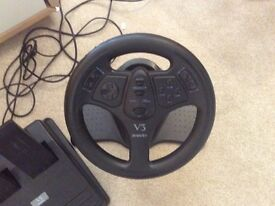 V3 Interact steering wheel + foot pedals --£15--