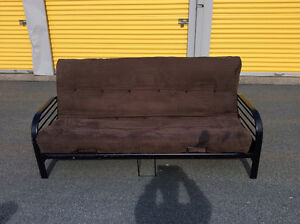 FUTON ! BROWN SUEDE ! Delivery Available ! $120 obo
