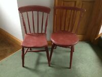 VINTAGE CHAIRS X 2 PAINTED ANNIE SLOAN