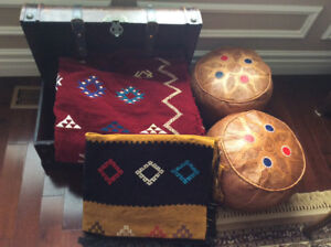 2 Area Rugs and 2 Poufs (Still Available)