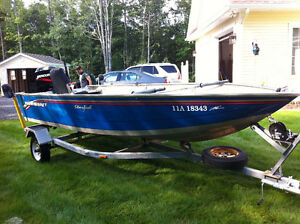 40 HP Mercury Outboard Motor and 16' Princecraft Aluminum Boat