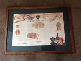The WORTHINGTON Story, large framed print, man cave, home bar, Christmas gift