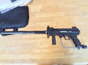 Tippmann A-5 with cyclone feed and barrel kit