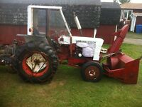 1976 Satoh Tractor with front end blower and attachments