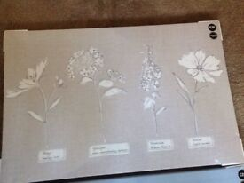 NEXT TAUPE / NATURE CANVAS WALL ART NEW! RRP £25 STILL SEALED