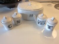 Stunning White Ceramic Kitchen Storage. New.