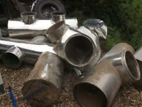 Heavy scrap non magnetic stainless steel 15 inch industrial ducting