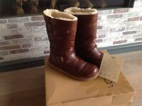 Ugg brown leather boots size 8.5