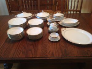 Limoges dishes. Place setting for 8. Dinnerware