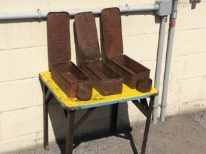3 Antique INTERNATIONAL HARVESTER tractor tool boxes !