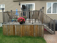 10'x10' Wood deck - Only 3 years old!