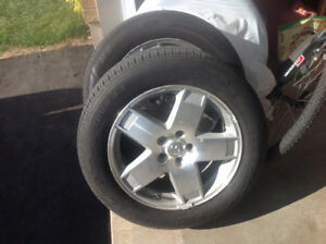 Dodge Charger wheels and tires