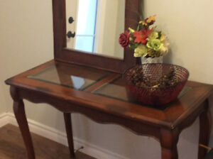 Hall Table And Matching Mirror For Sale