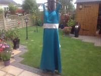 Beautiful TealSilver Bridesmaid Dress!