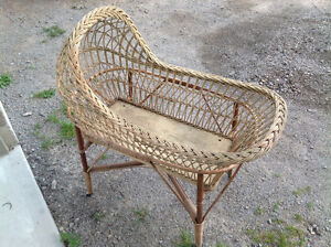 Antique Bassinet with stand - converts to glass table