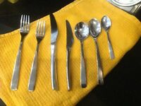 Elia stainless steel cutlery set for 12 place settings