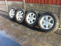 Mitsubishi l200 96 to 06 Alloy wheel tyres and nuts