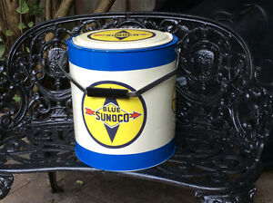 Vintage BLUE SUNOCO cooler !