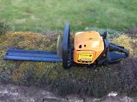 Petrol mcculloch hedge trimmer cutter garden bushes