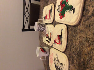 Kliban Cat Potholders and Mugs