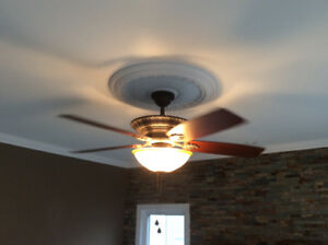Ceiling fan w/light 52""