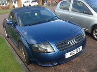 Audi TT roadster convertible 2003 /03 with private no. Scarce car .