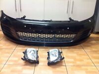 Vw golf mk6 gti / gtd complete bumper 09-12 not r r32 genuine vw factory parts