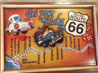 ROUTE 66 3D PICTURE IN FRAME