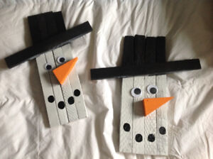 Homemade snowmen