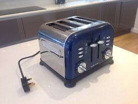 Morphy Richards 4 slice toaster in dark blue and silver