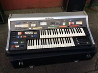 Technic Keyboard and case and twin amps/ speakers / foot pedal